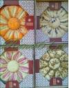 Халва кунжутная апельсиновая с миндалем 4,5кг (поднос)